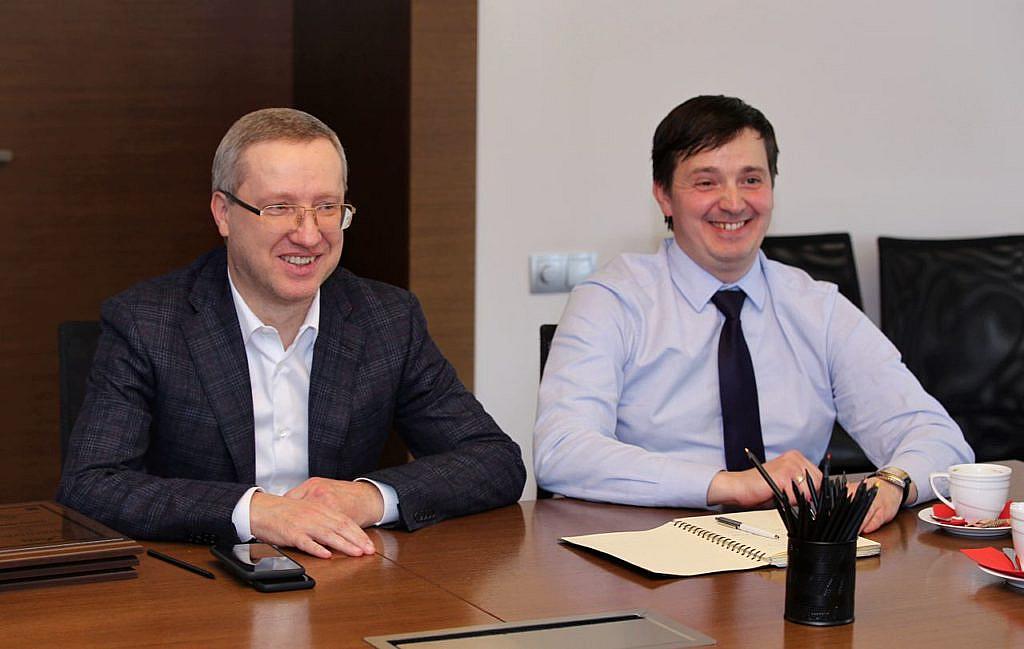 Голова Правління АПКБУ Сергій Погребной та член АПКБУ, поліграфолог Євгеній Красюк