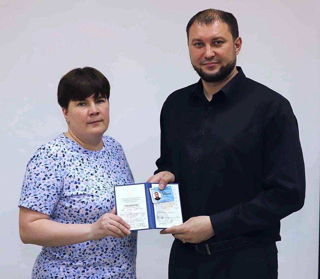 Президент ВАП Морозова Тетяна Романівна та Кєчін Максим Олександрович