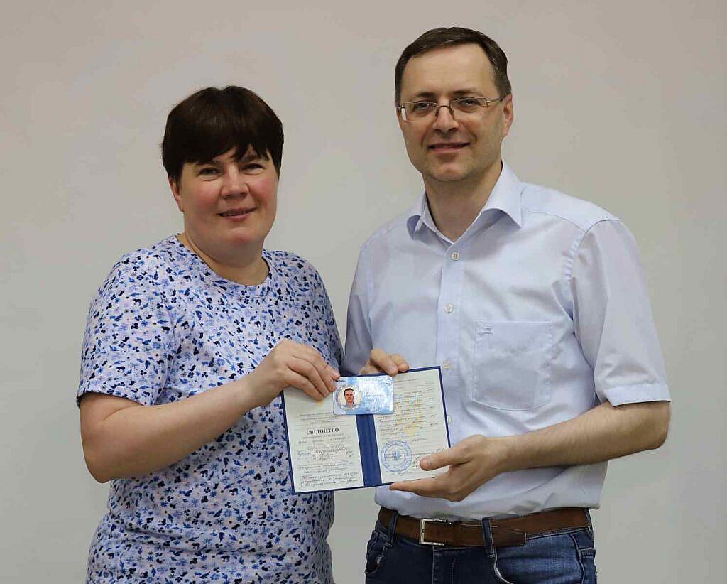 Президент ВАП Морозова Тетяна Романівна та Штейніков Сергій Володимирович