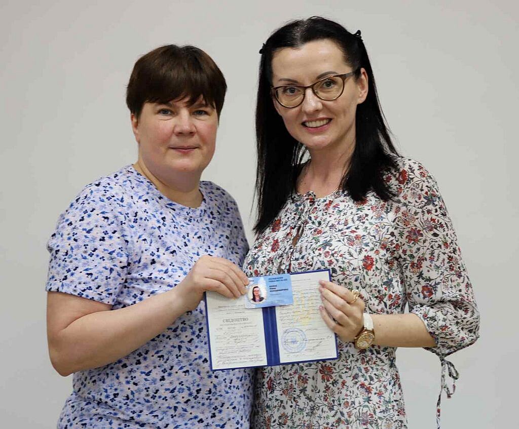 Президент ВАП Морозова Тетяна Романівна та Козіна Яніна Володимирівна