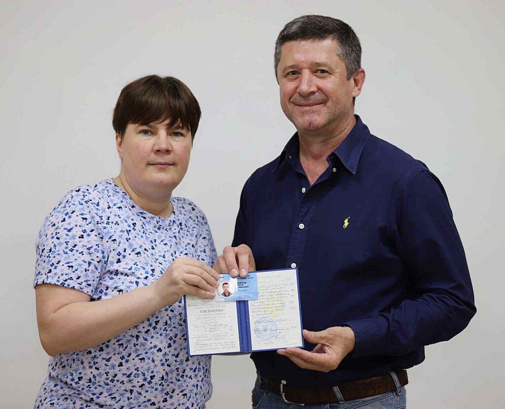 Президент ВАП Морозова Тетяна Романівна та Борисов Сергій Семенович